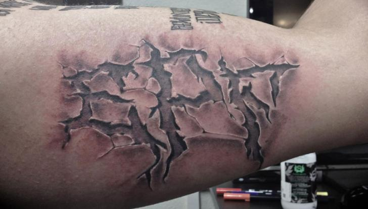 Arm Lettering 3d Tattoo by Tattoo Nero