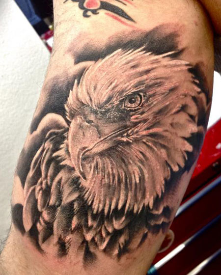 Arm Realistic Eagle Tattoo by Tattoo Nero