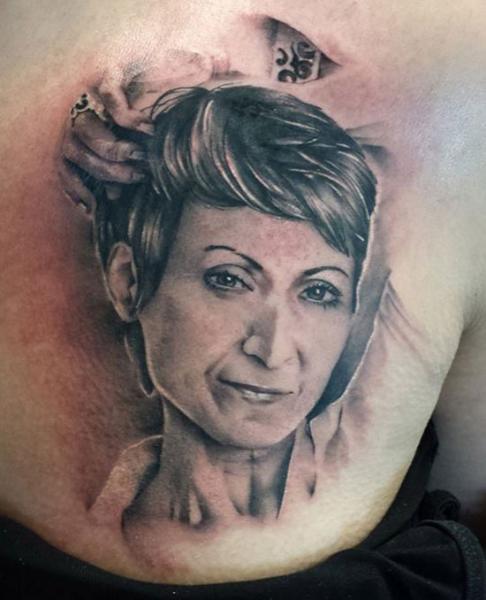 Portrait Realistic Tattoo by Tattoo Nero