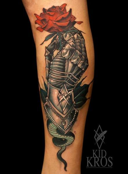 Arm Flower Tattoo by Kid Kros