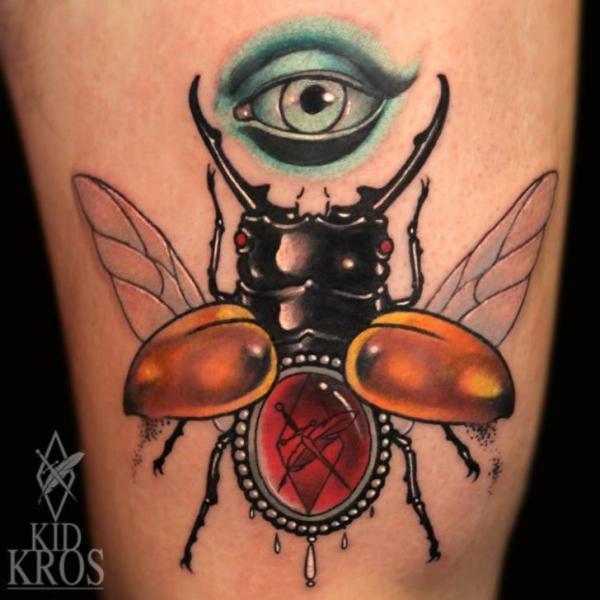Arm Scrabble Tattoo von Kid Kros