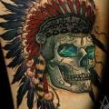 Arm Totenkopf Indisch tattoo von Kid Kros