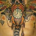 Clock Chest tattoo by Kid Kros