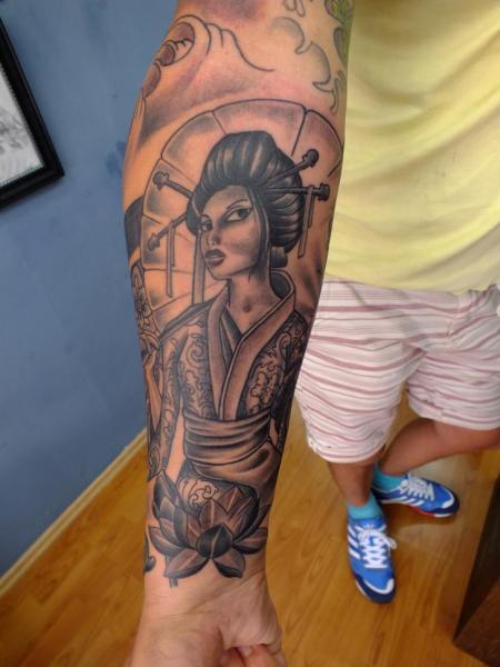Arm Fantasy Geisha Tattoo by Yusuf Artik Tattoo Studio