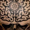 Totenkopf Rücken Gehirn tattoo von Into You Tattoo