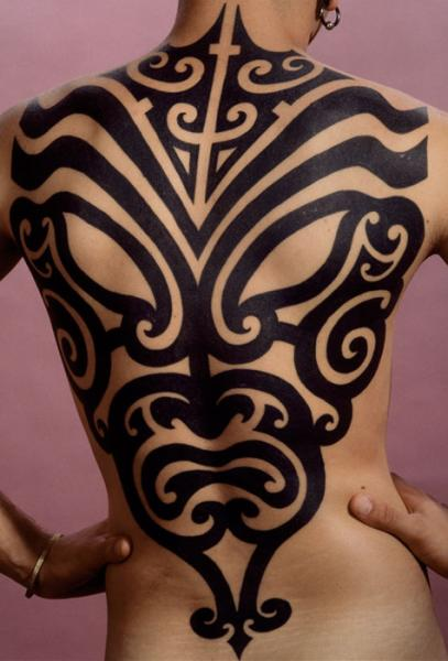 Back Tribal Tattoo by Into You Tattoo
