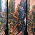 New School Calf Wings Helmet tattoo by Into You Tattoo