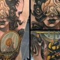 Fantasy New School Leg tattoo by Into You Tattoo