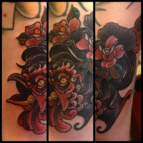 New School Rooster Tattoo by Into You Tattoo