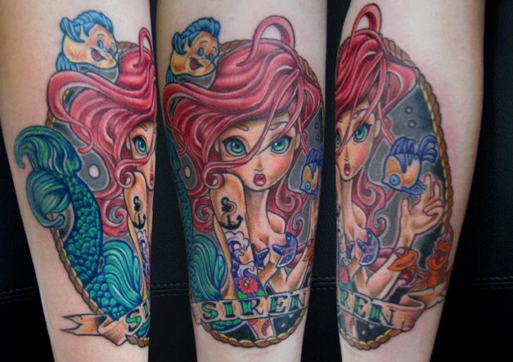 Arm Fantasy Siren Tattoo by Front Line Tattoo