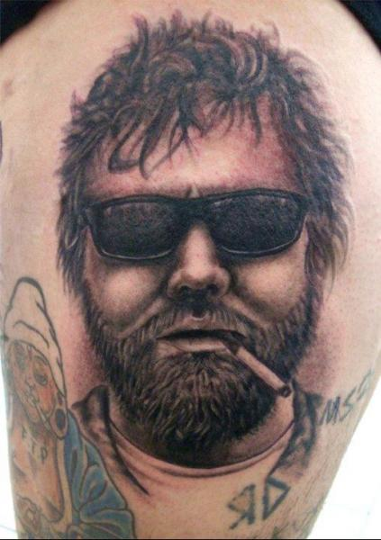 Portrait Realistic Tattoo by Front Line Tattoo