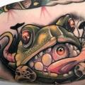 Arm Frog tattoo by Black Star Studio