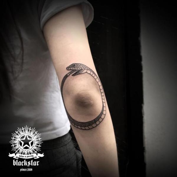 Arm Snake Tattoo by Black Star Studio