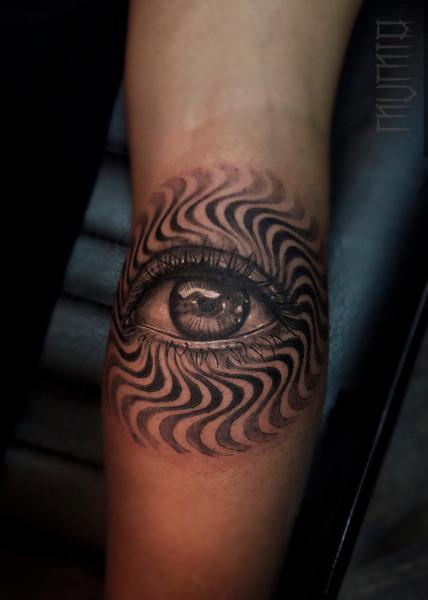 Arm Eye Tattoo by Mumia Tattoo