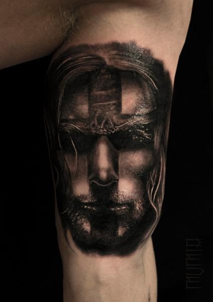 Arm Portrait Tattoo by Mumia Tattoo