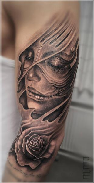 Arm Flower Women Tattoo by Mumia Tattoo
