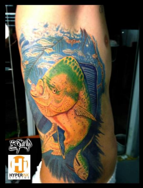 Side Fish Tattoo by Hyperink Studios