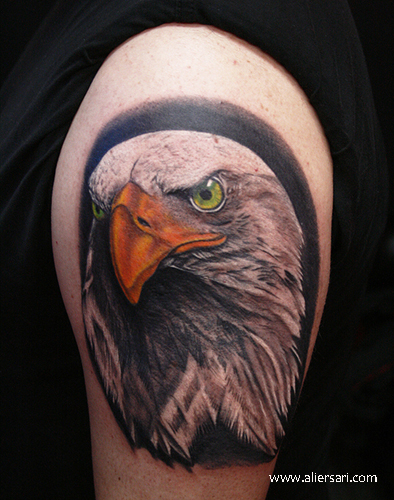 Shoulder Realistic Eagle Tattoo by Ali Ersari