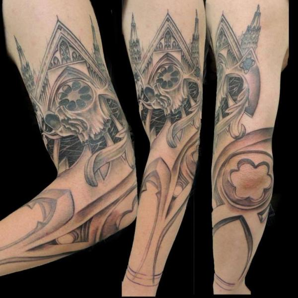 Arm Kirche Tattoo von Firefly Tattoo