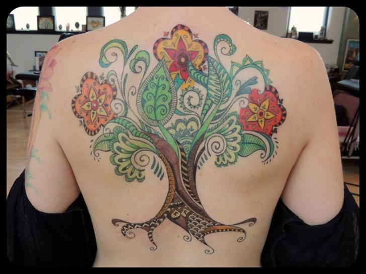 Fantasy Back Tree Tattoo by Firefly Tattoo