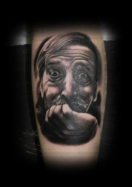 Arm Portrait Realistic Tattoo by Peter Tattooer