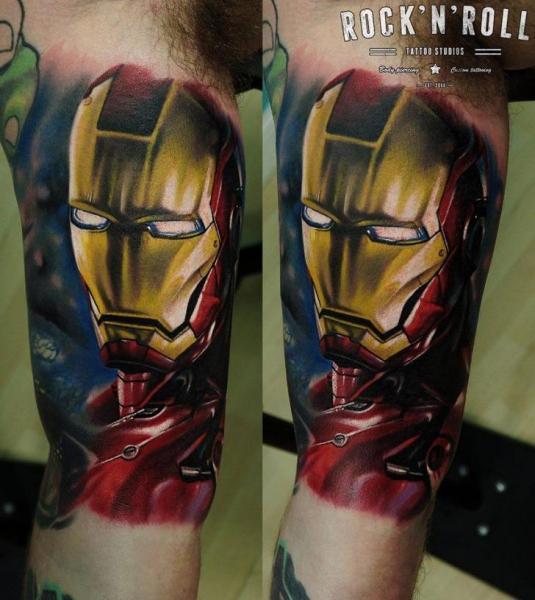Arm Fantasy Hero Ironman Tattoo by Rock n Roll