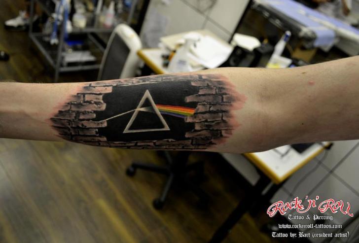 Tatuaż Ręka Pink Floyd Przez Rock N Roll