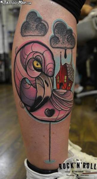 Fantasy Leg Flamingo Tattoo by Rock n Roll