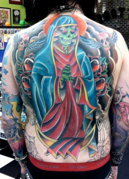 New School Back Religious Tattoo by Tattoo B52