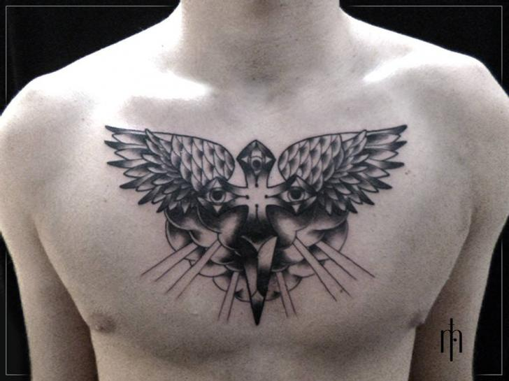 Chest Wings Crux Tattoo By Tattoo B52