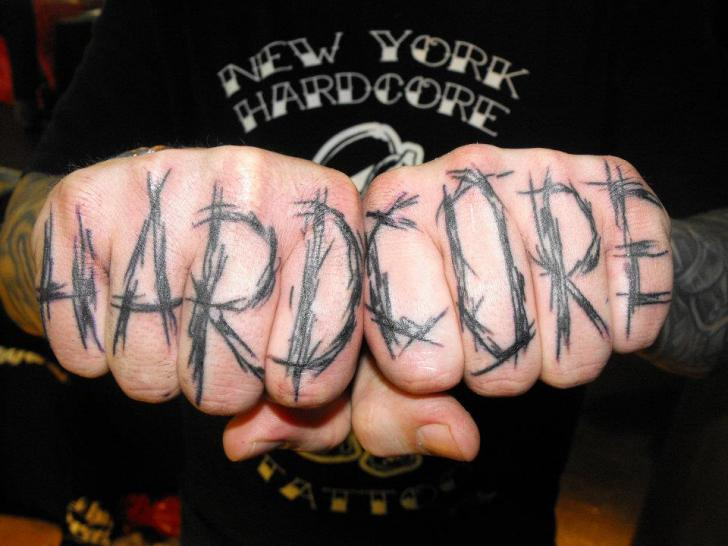 Finger Lettering Fonts Tattoo by Kreuzstich Tattoo