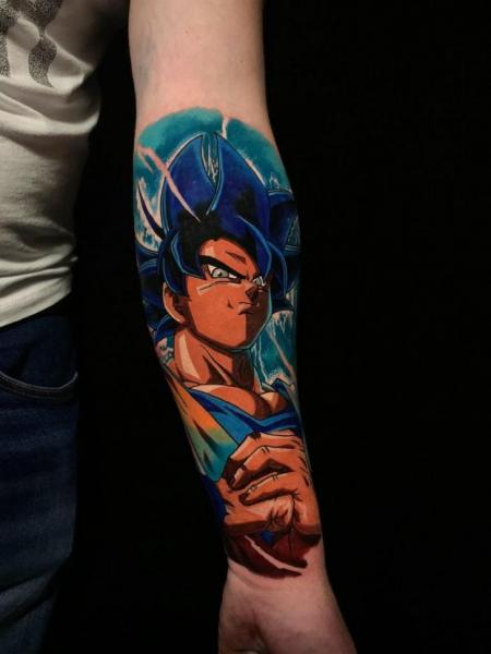 Arm Dragonball Tattoo by Endorfine Studio