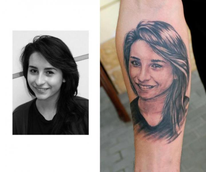 Arm Portrait Realistic Tattoo by Endorfine Studio