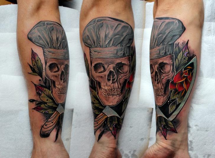 Arm Skull Hat Tattoo by Endorfine Studio