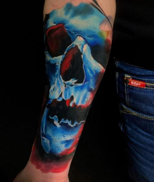 Arm Skull Tattoo by Endorfine Studio