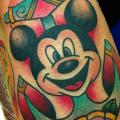 New School Mickey Mouse Anchor tattoo by Alex Strangler