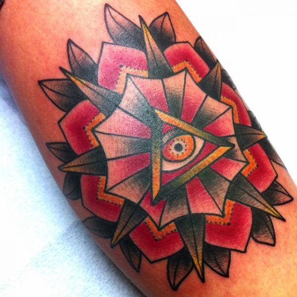 Arm Old School Auge Tattoo von Alex Strangler