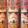 Schulter Fantasie Star Wars tattoo von Løkka Tattoo Lounge