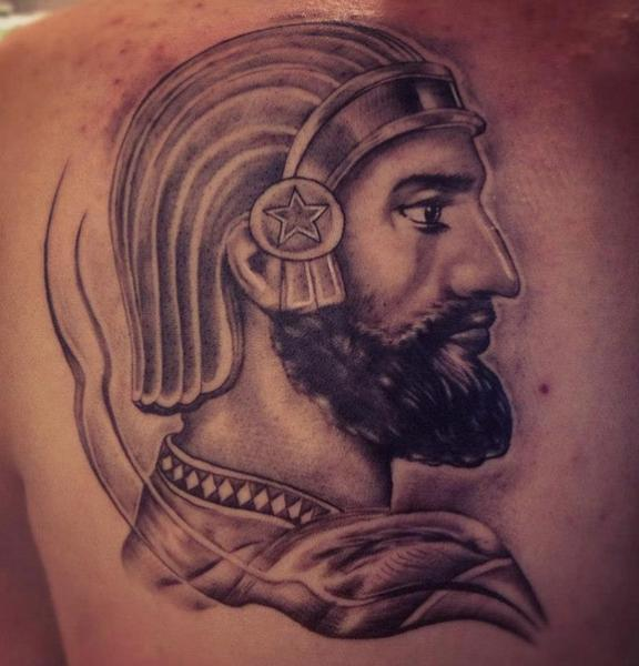 Shoulder Warrior Tattoo by Løkka Tattoo Lounge