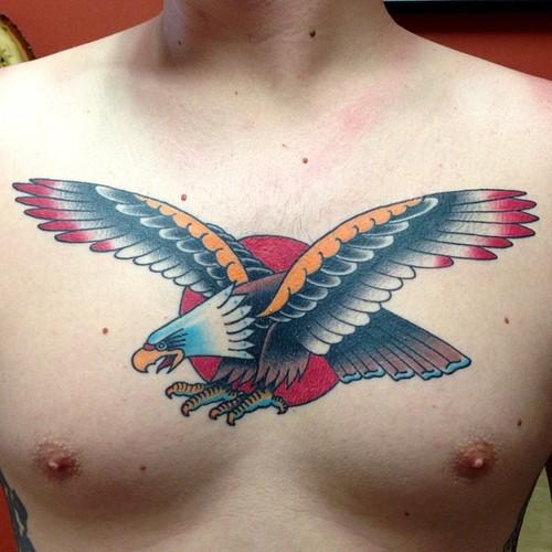 New School Brust Adler Tattoo von Marc Nava