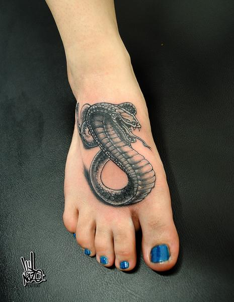 Snake Foot Tattoo by Nazo