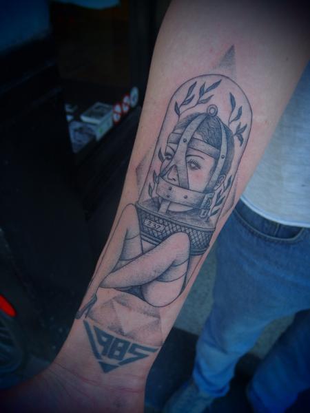 Arm Fantasy Dotwork Tattoo by Papanatos Tattoos