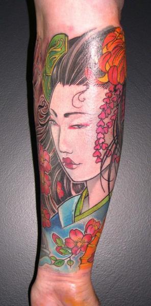 Tatuaggio Braccio Giapponesi Geisha di Obsidian