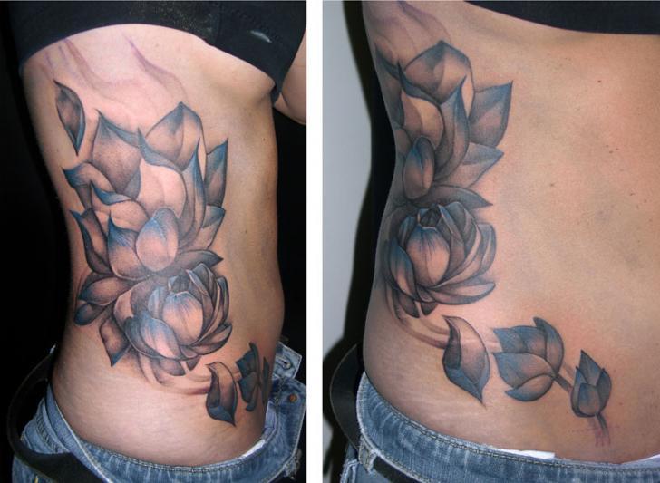 Flower Side Tattoo by Obsidian