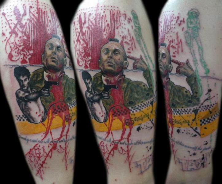 Trash Polka Al Pacino Tattoo by Gulestus Tattoo