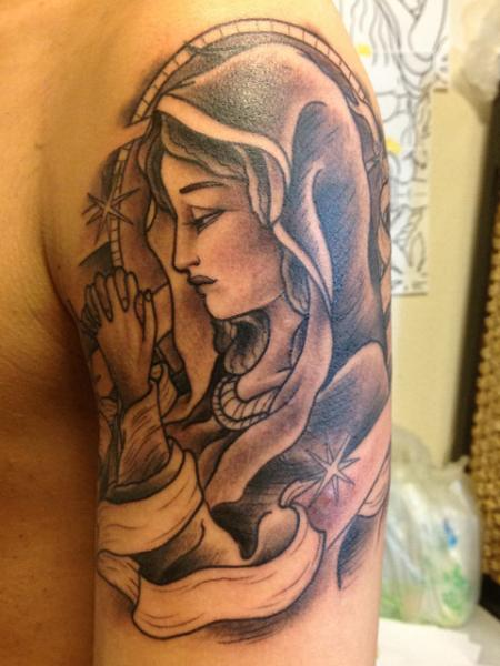 Shoulder Religious Tattoo by Daichi Tattoos & Artworks