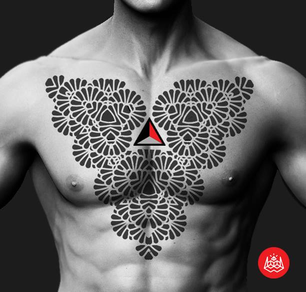 Chest Tribal Tattoo by 2vision Estudio
