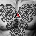 tatuaż Klatka piersiowa Tribal przez 2vision Estudio