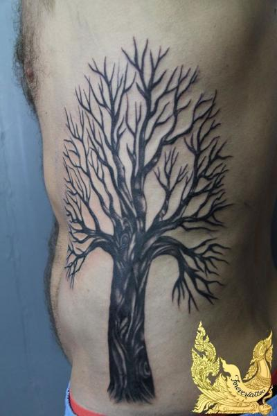 Side Tree Tattoo by Forevertattoo Studio