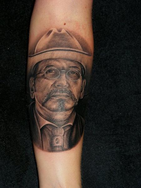 Arm Portrait Realistic Tattoo by Da Silva Tattoo